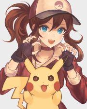 girl. female protagonist. pikachu