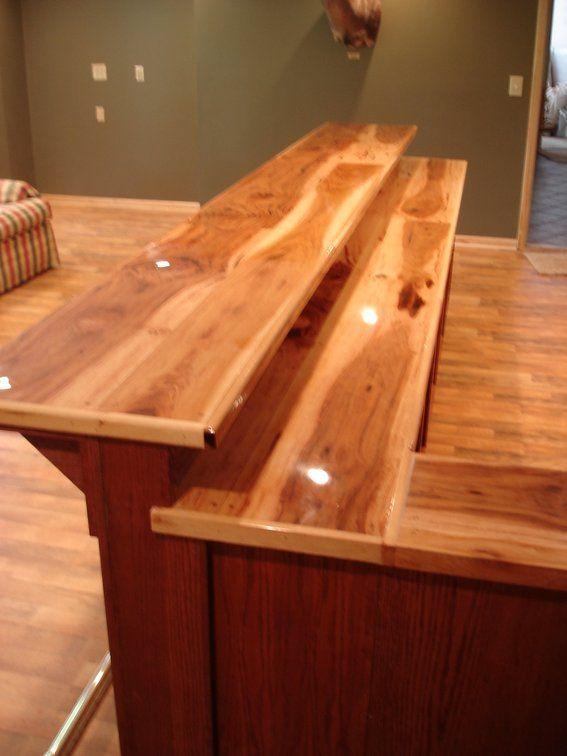 Custom Bar Top Ideas  Custom Made Oak Bar With Hickory