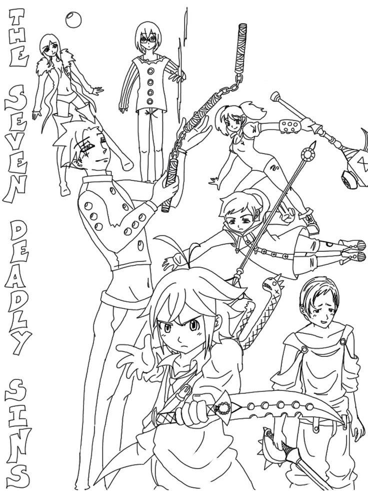 Nanatsu No Taizai Group The Seven Deadly Sins