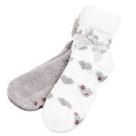 Grey Kissables Lavender Capsule Infused Fluffy Chenille Socks - 2 Pair Pack at Amazon Women's Clothing store: