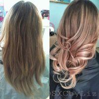Rose gold hair color champagne ros | Hairspiration ...