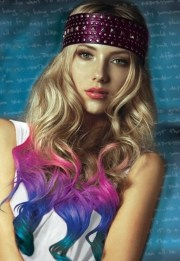 splat hair color dip dye