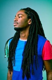 handsome black man with long dreads