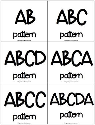 35 best images about Patterns and Sorting Grade 1 on