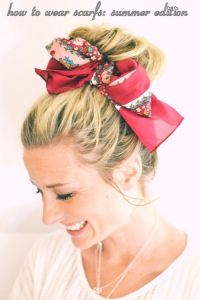 Cute ways to wear scarves in your hair | Hair | Pinterest ...