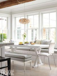 Light gray floorsa riff on driftwoodknit kitchen, dining ...