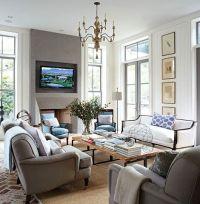 decor taupe blue living room hamptons | ... M a g n  ...