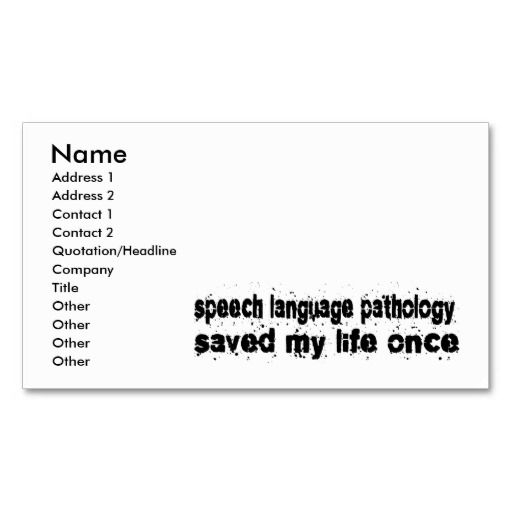 158 best images about Speech Pathologist Business Cards on