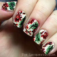 The Lacquerologist: Abstract Christmas Floral | Nail Art ...