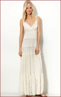 Long white lace dress | Willow & Clay Lace Long Casual ...