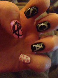 Sons of anarchy nails! | Ongles | Pinterest