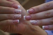 wedding nails white tip french
