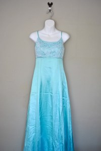 Vintage Teal Prom Dress / Light Turquoise 1970s Formal ...
