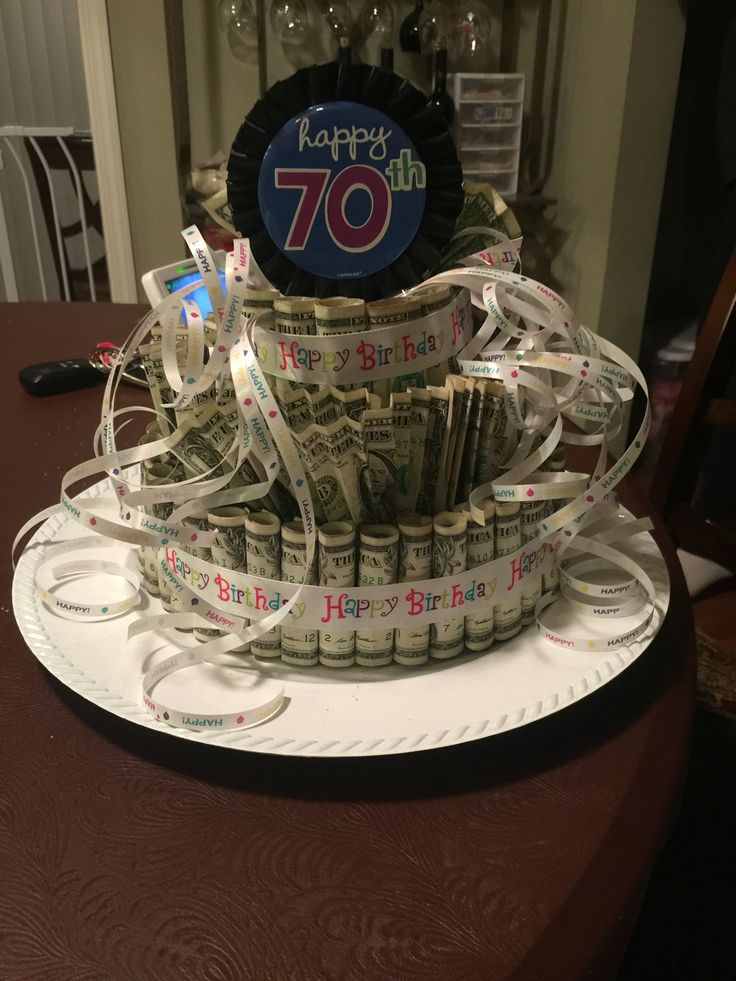 Money cake with dollar bills  Gift Ideas  Pinterest  Money cake