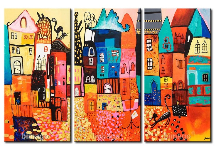 Colorful houses by Mathilde Moore  images that inspire me