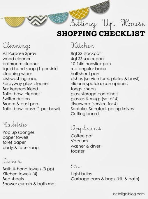 25+ best ideas about First home checklist on Pinterest