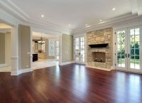 Warm Cherry Living Room Hardwood Floors