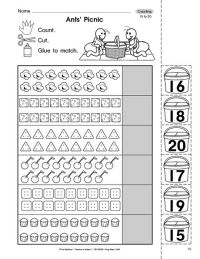 Counting To 20 Worksheets For Preschoolers - paperclip ...