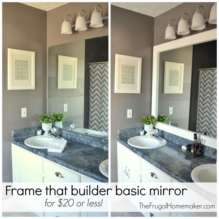 Best 20 Frame bathroom mirrors ideas on Pinterest