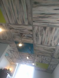 Ceiling Tiles Ideas. Cheap Diy Pallet Board Ceiling In