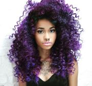 curly purple hair ideas
