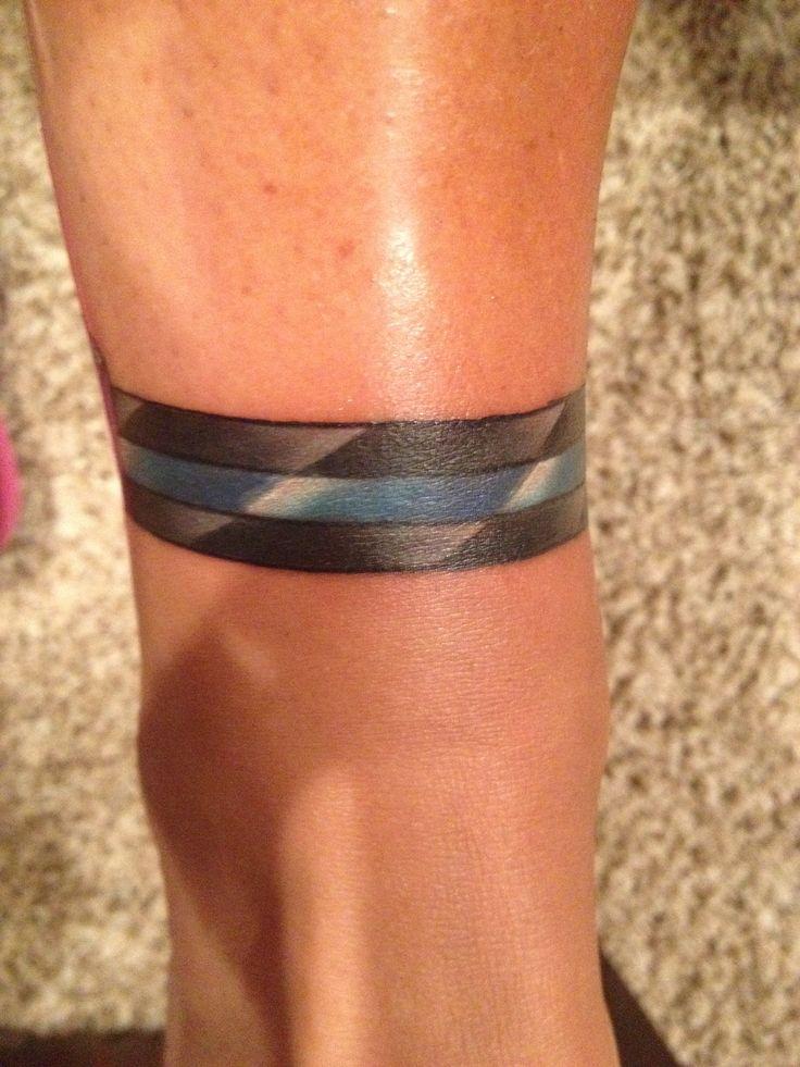 Thin Blue Line Tattoo Forearm