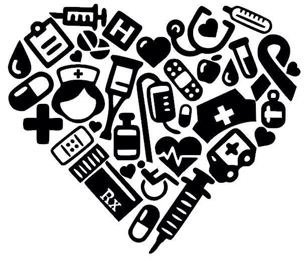 Download Nurse / Nursing Icons Heart. | Silhouette Cameo ...