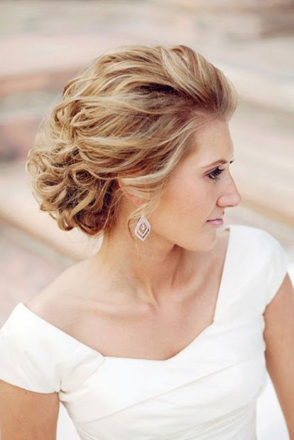 Die 25 Besten Ideen Zu Lockige Hochzeitsfrisuren Auf Pinterest