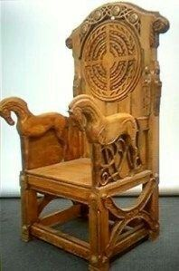 Pin by Sheila Mcneil on viking throne chair | Pinterest