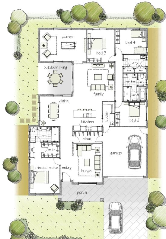 377 Best Images About House Plans On Pinterest House Design