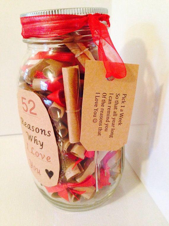 52 Reasons Why I Love You Gift In A Jar Why I Love You