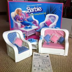 Retro Living Room Furniture Sets Rooms Decorated By Joanna Gaines Vintage 1983 Barbie Dream Wicker Set ...
