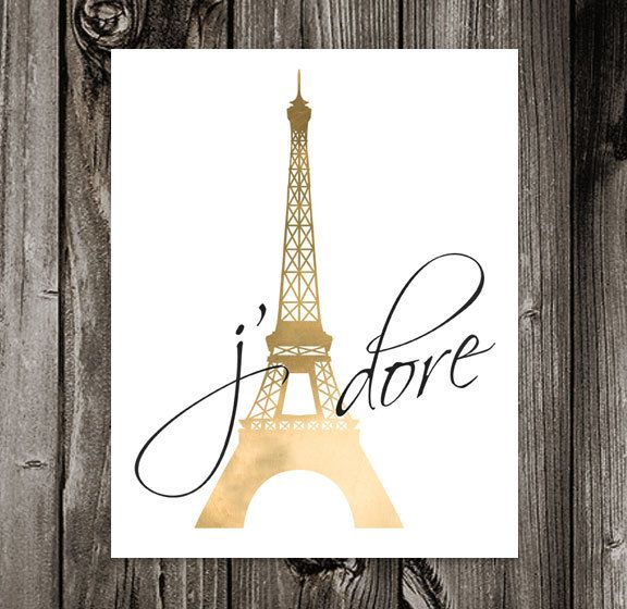 Girls Wallpaper Decals With Eiffel Tower J Adore Printable Art I Adore French France Paris