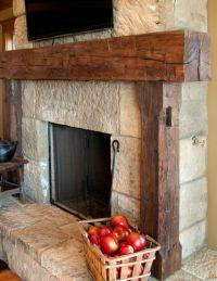 Rustic Fireplace Mantel   Fireplace   Pinterest   Rustic ...