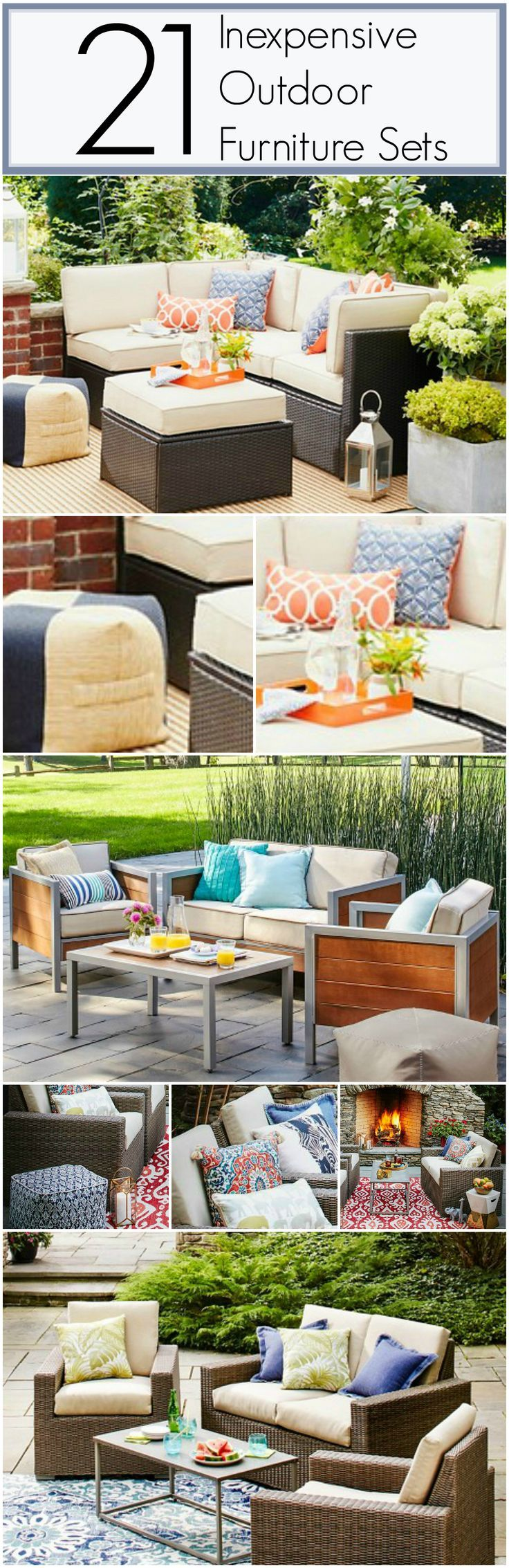 17 Best ideas about Inexpensive Patio Furniture on