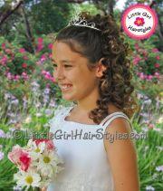 girls princess tiara hairstyle