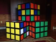 80s party decor. easy make rubiks