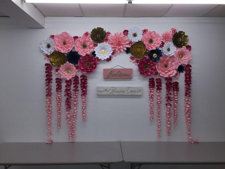 25+ best ideas about Paper flower backdrop on Pinterest