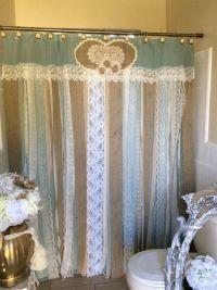 25+ best ideas about Burlap shower curtains on Pinterest