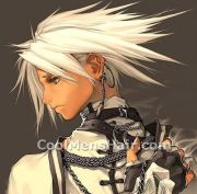 anime white hair grey eyes