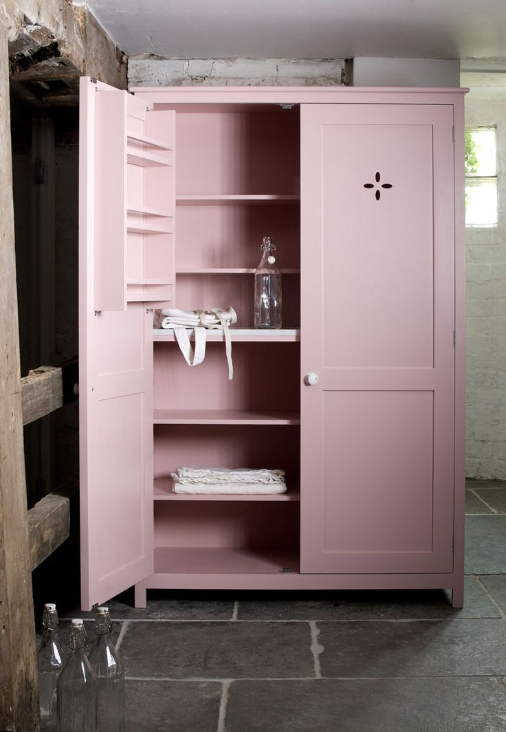 pantry in pink  Cupboard Pantry cupboard and Devol kitchens