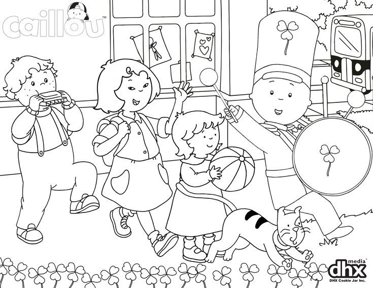 Celebrate with your little one and this Caillou Parade