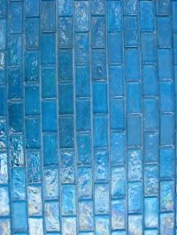 Candy Turquoise Iridescent Subway Mosaic Glass Tile ...