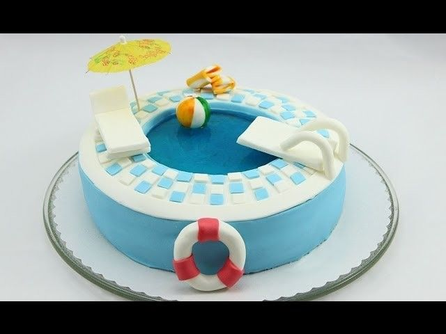 17 Best ideas about Swimming Pool Cakes on Pinterest
