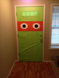 TMNT door (done in the inside) with table covers | Teenage ...