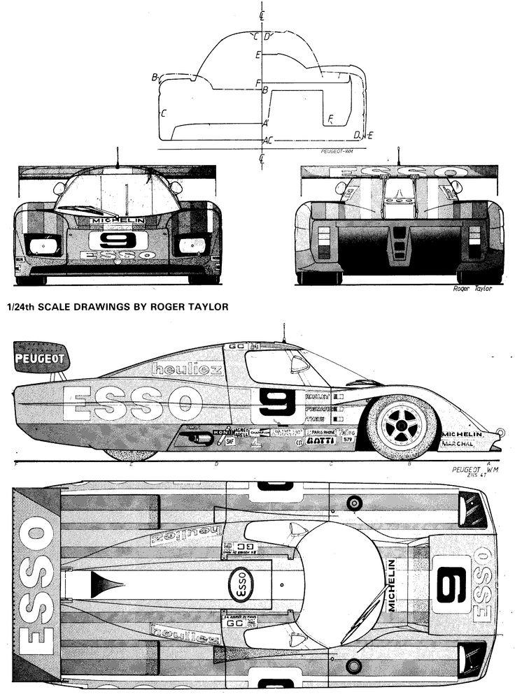 282 best images about Racing Car blueprint on Pinterest