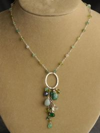 Peridot, Chrysoprase, Green Onyx, Amazonite and Pearl ...