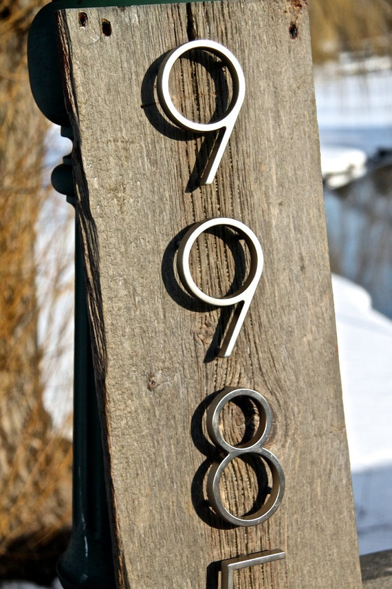 25 Best Ideas About Rustic House Numbers On Pinterest House