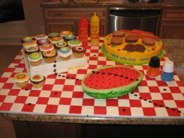 82 best BBQPicnic Cakes images on Pinterest
