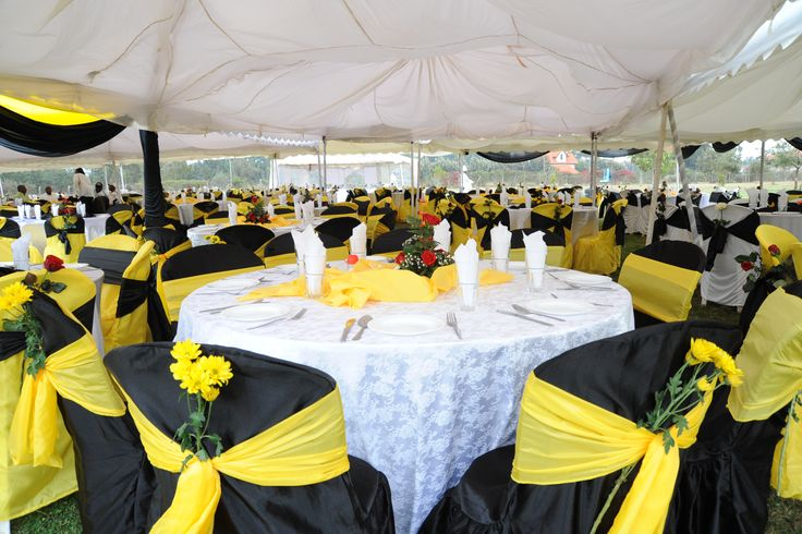 blue chair covers for weddings wood high sale 35 best images about yellow, white & black wedding on pinterest | runners, receptions and table ...